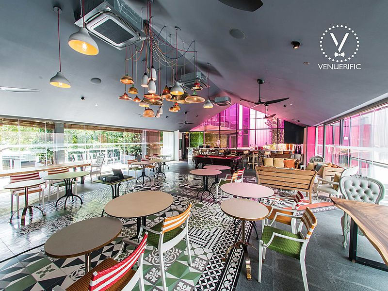 colourful unique event space at m hotel singapore