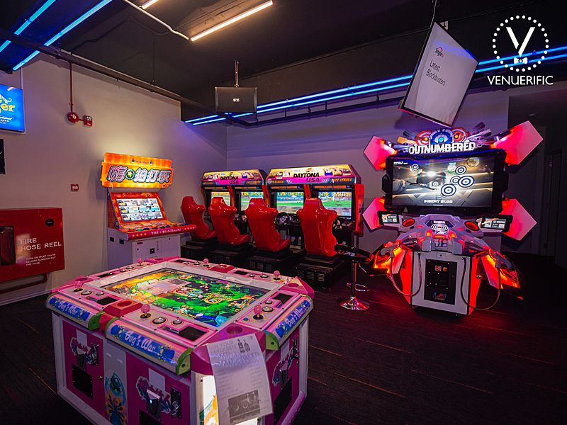 Singapore event space with arcade games for team building
