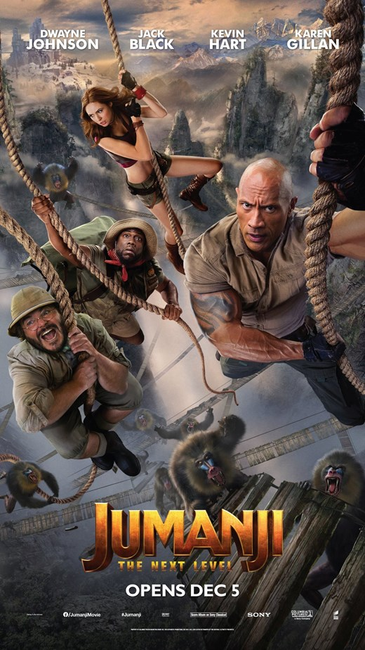 jumanji the next level december holiday movie poster