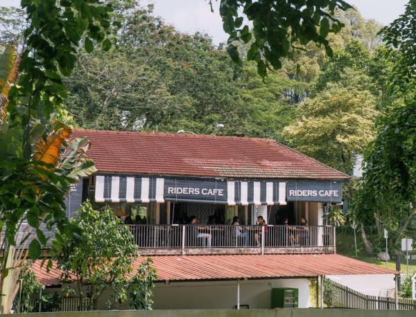 cafe behind the lush greenery at bukit timah