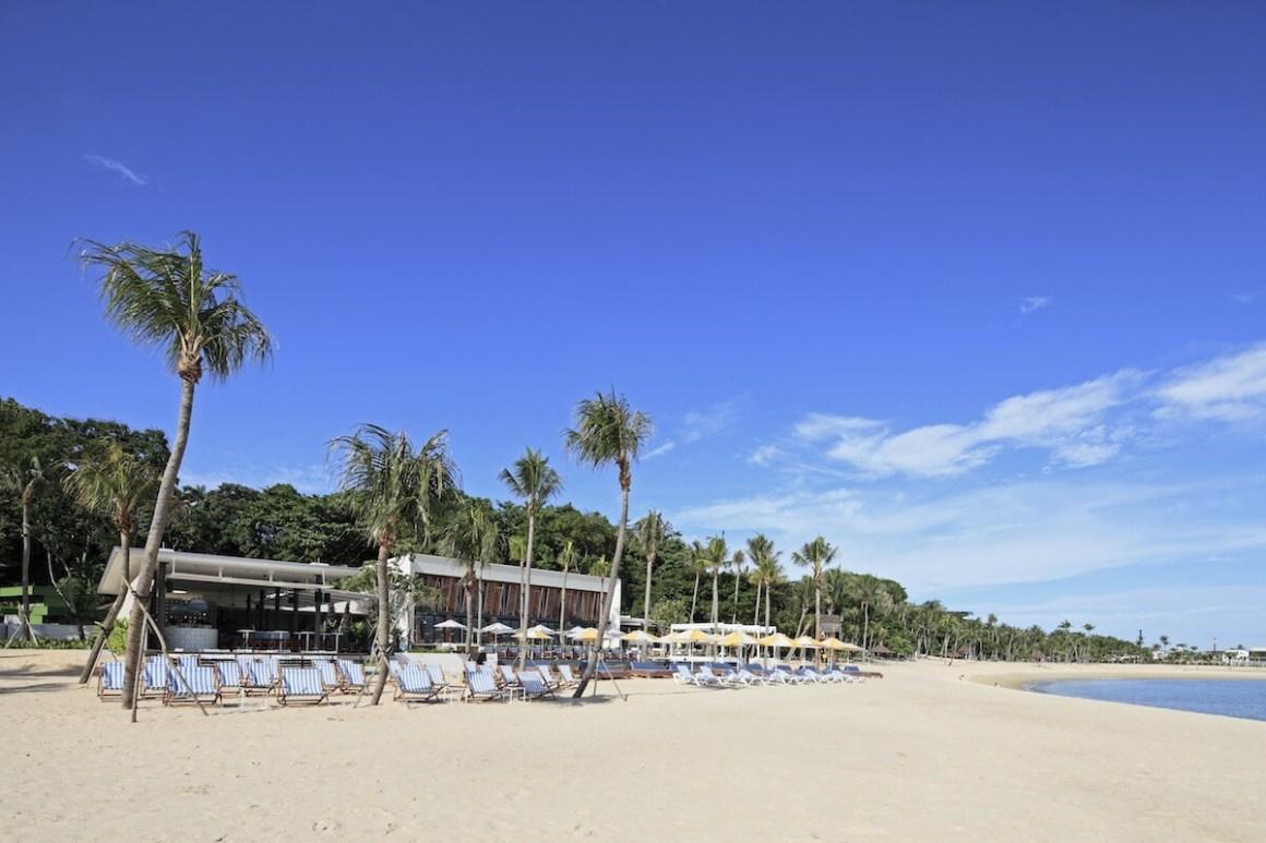 tanjong beach with chairs on beach