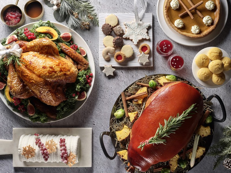 chicken and pork for christmas buffet singapore