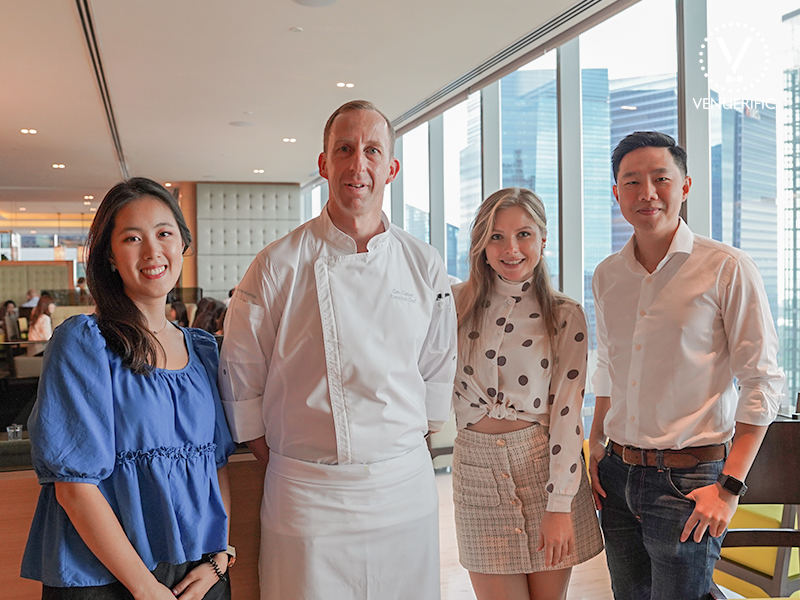venuerific team with the executive chef of seasonal tastes