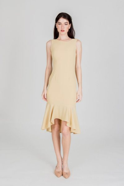 pretty yellow hem dress