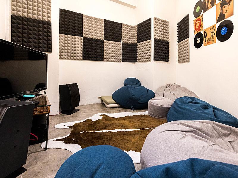 private karaoke lounge area