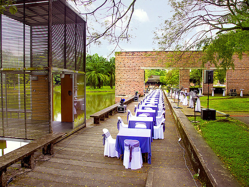 lakeside wedding event space at KLPAC