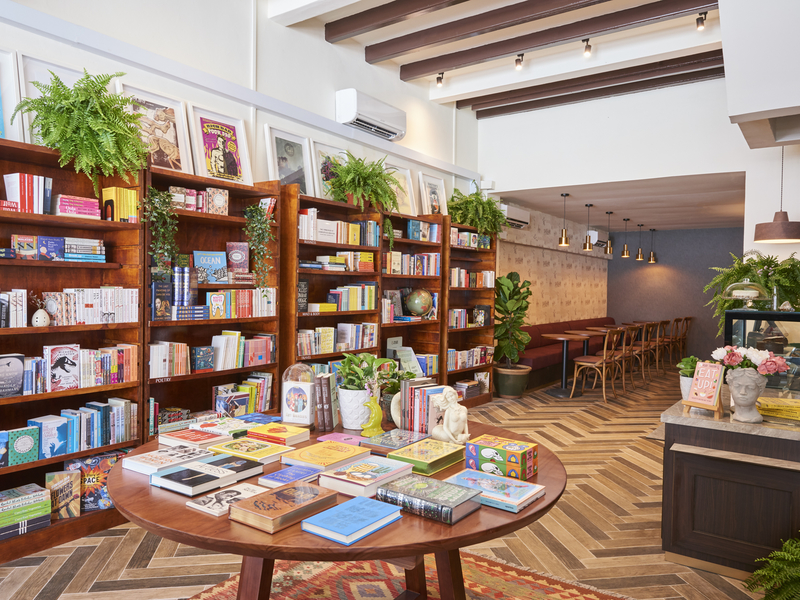 Bookstore, lifestyle cafe