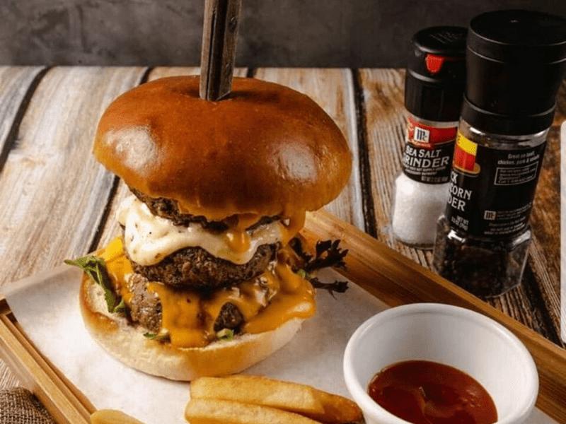 Jawbreaker Burger at Grill Ninety Nine