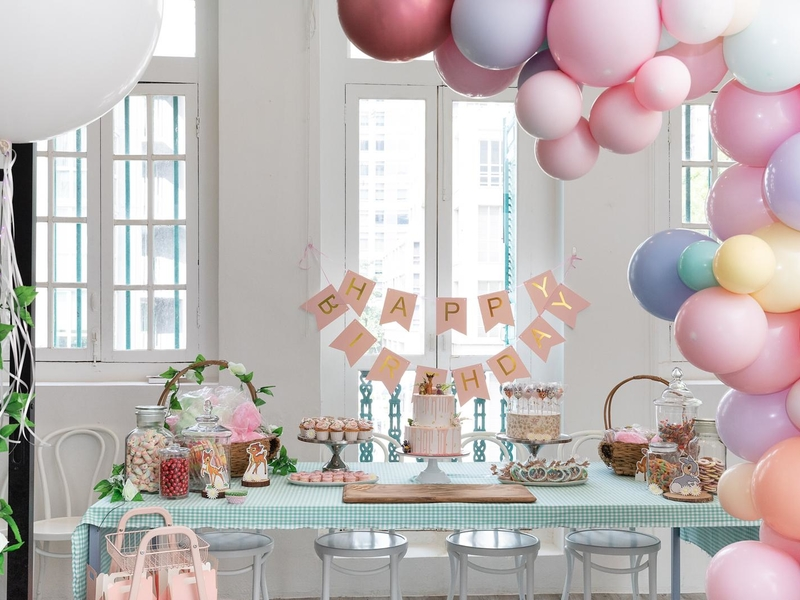 beautiful set up for birthday celebrations