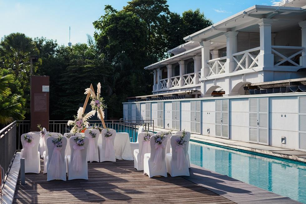 rustic wedding venue with pool singapore
