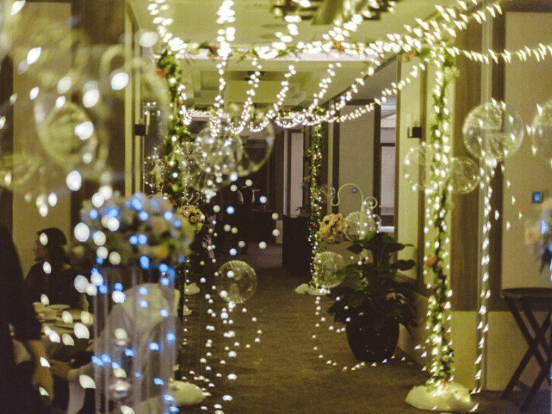 light decorations in wedding ballroom singapore