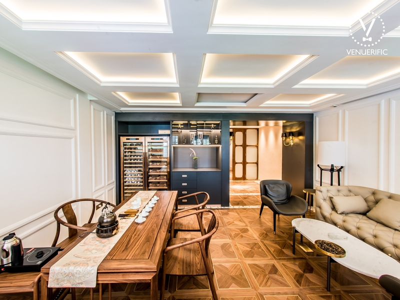 place for intimate wedding in singapore with wooden interior