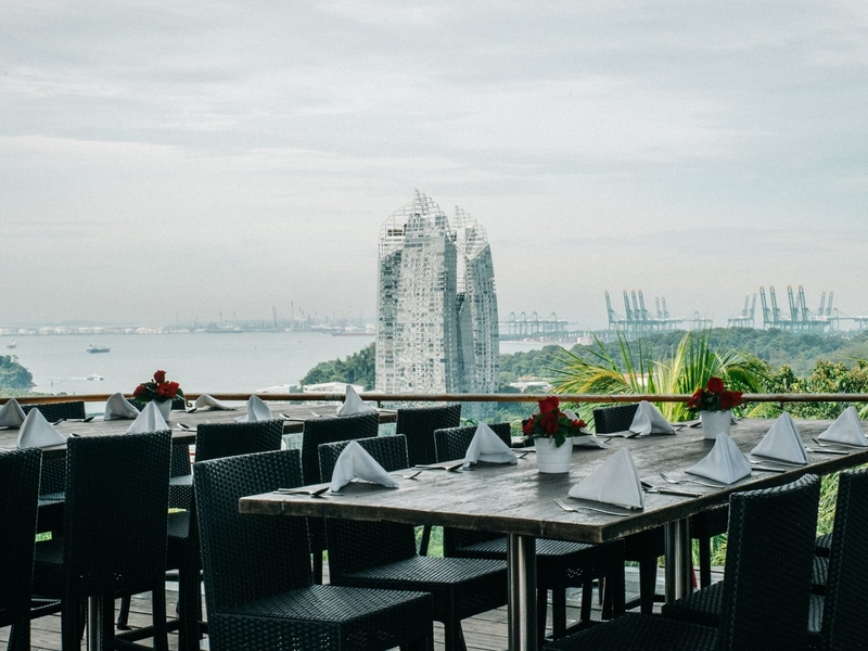 dinner and dance venue in singapore with sea view and long tables