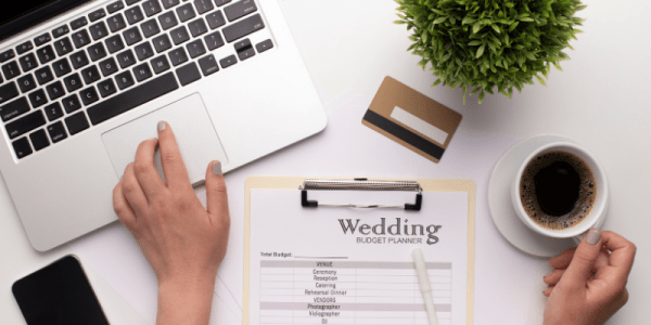wedding budget planning with the long list of vendor