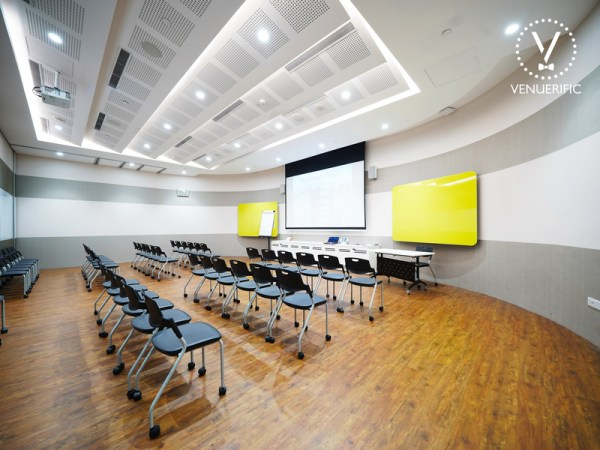 spacious training room equipped with audio-visual facilities