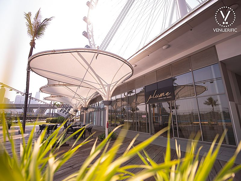 outdoor event space near singapore flyer