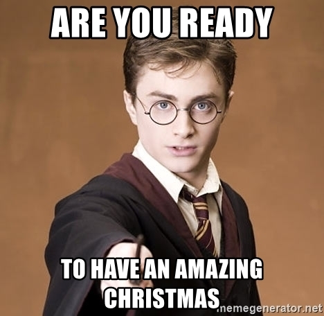 harry potter in funny christmas meme