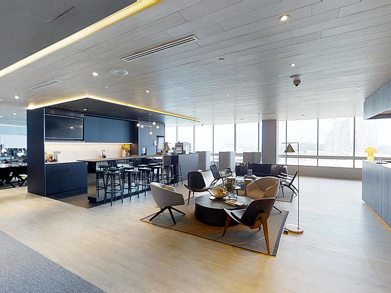 meeting space in singapore with big lounge and mini pantry