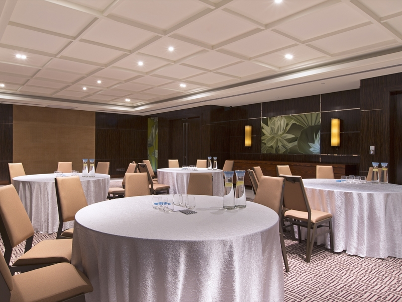 singapore large corporate venue with banquet seating and patterned floors