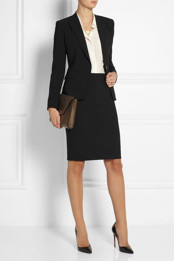 lady in formal office wear
