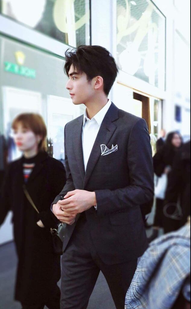 man in a semi formal suit and tie outfit