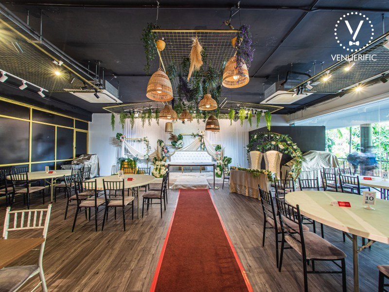 indoor wedding function hall for solemnisation