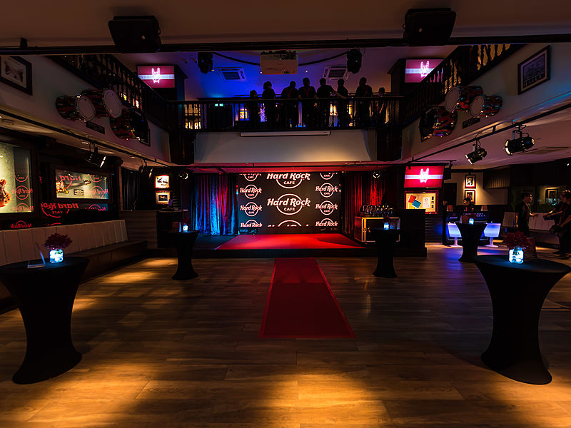 event stage in a bar and restaurant