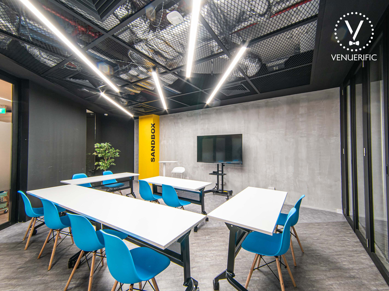 Corporate Event Venue with tables and chairs for meetings