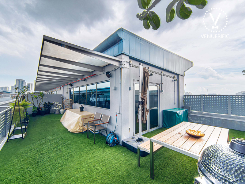 Corporate Event Venue with outdoors rooftop area