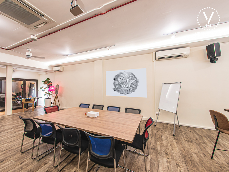Corporate Event Venue with table and chairs for training