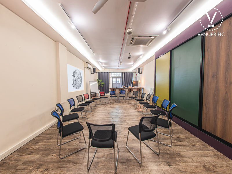 Corporate Event Venue with chairs in the middle for training session