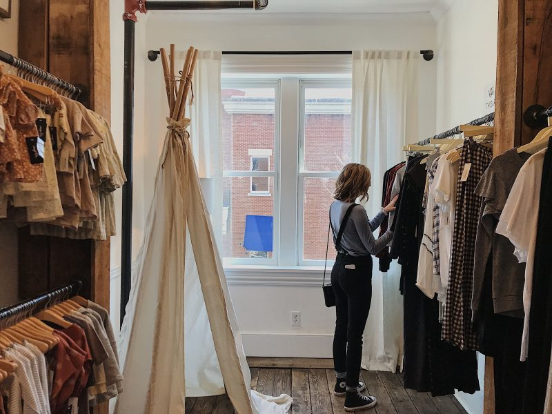 Shopping in a Boutique