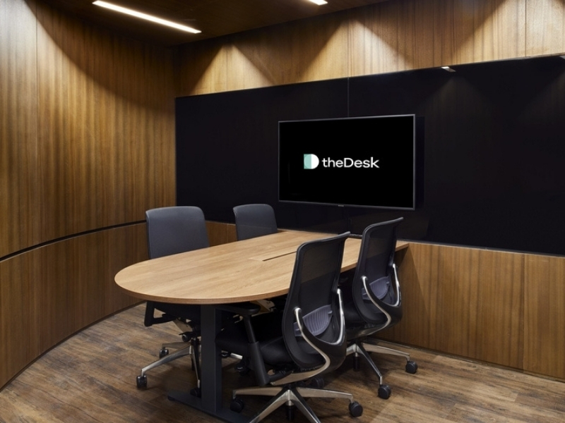 professional four seater meeting room with TV