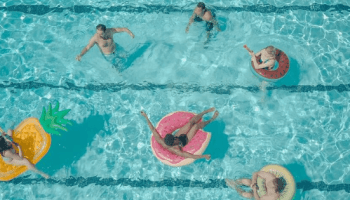 people in a pool
