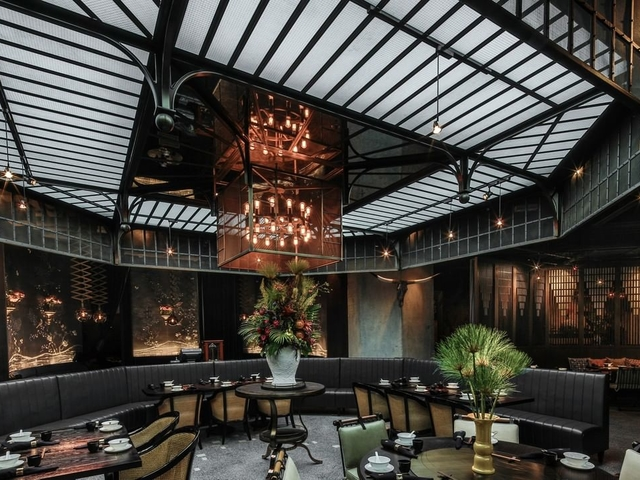 Sleek Indoor restaurant that can be used as a solemnisation venue in Hong Kong