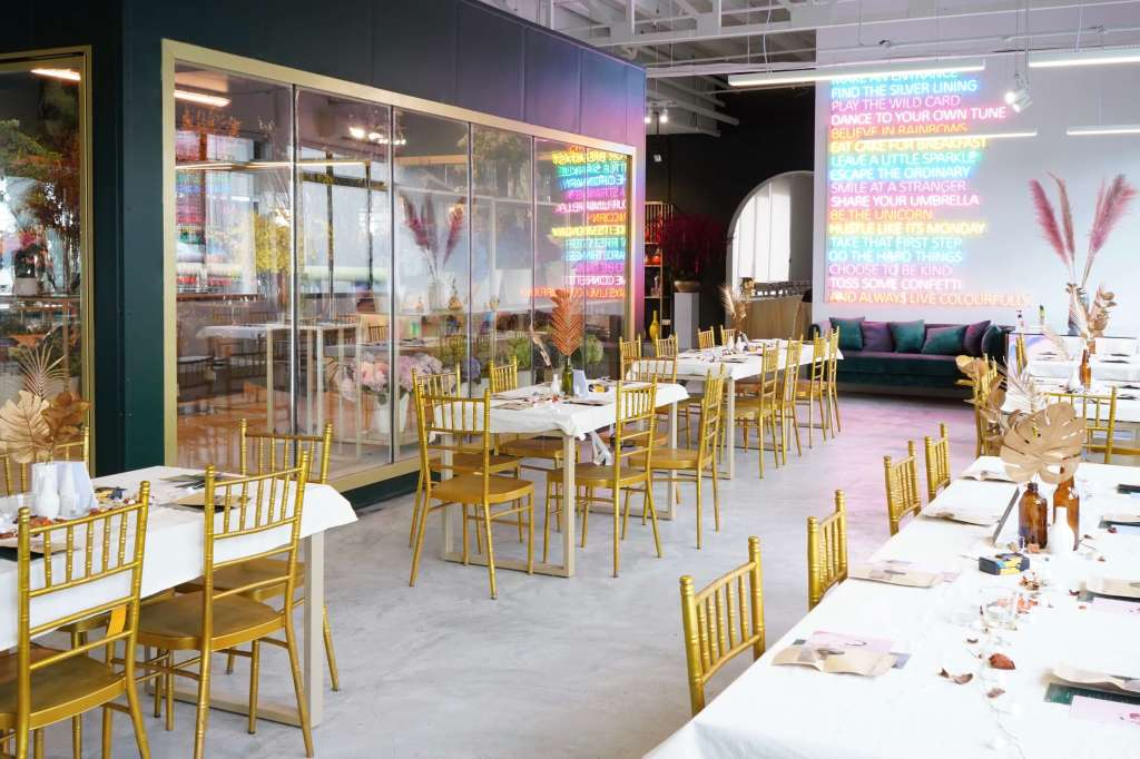 dining area for event