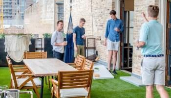 men playing games outdoors