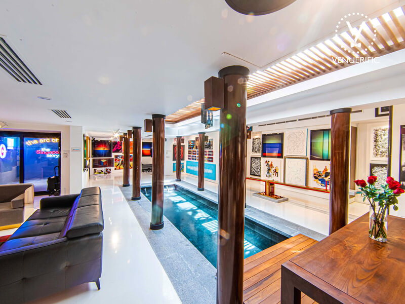 space with indoor pool