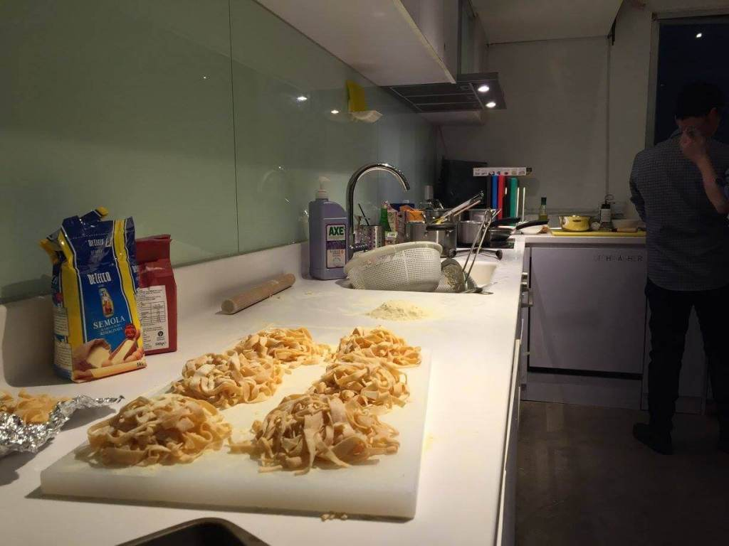 pasta on a kitchen counter top