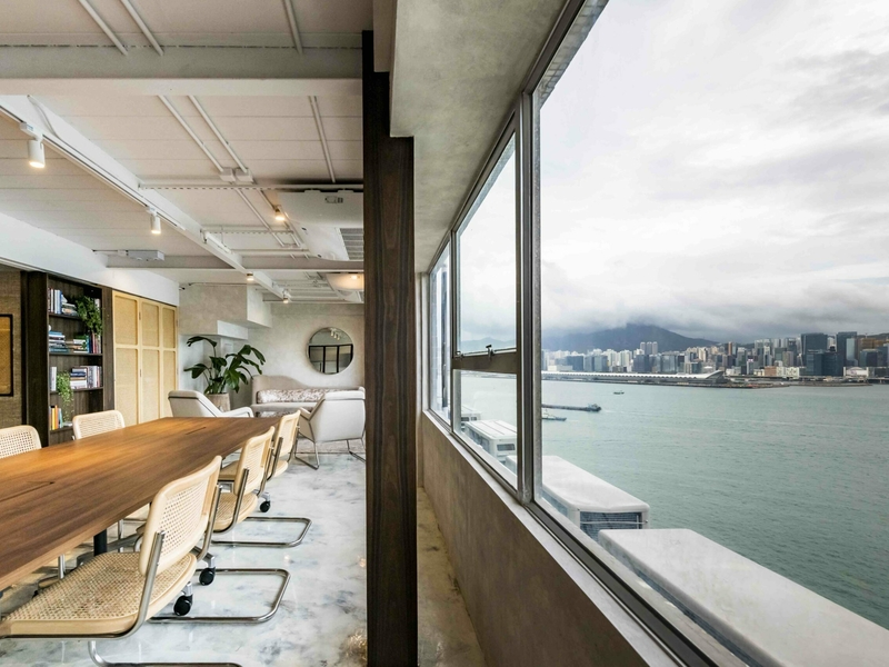 meeting room with a harbour view