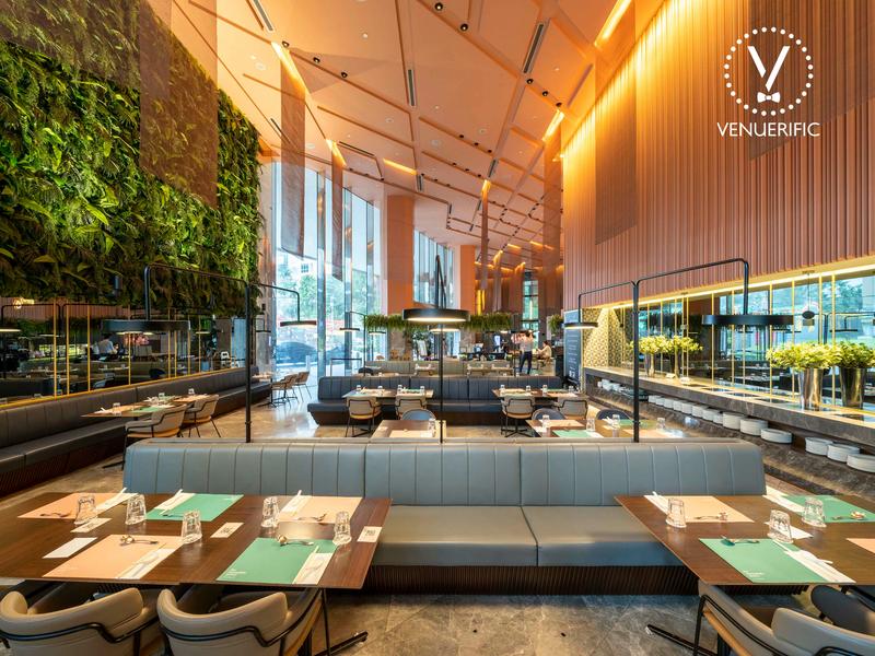 dining area of restaurant