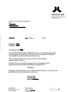 Kanzlei MM Raunheim Forderung Smartwin Dortmund