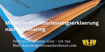 Beitragsbild: Modifizierte Unterlassungserklaerung nach Filesharing