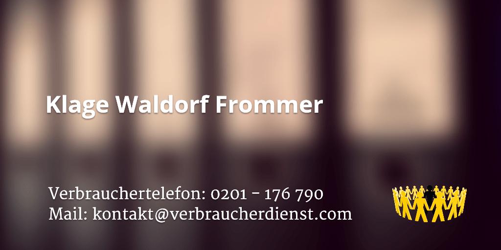 Beitragsbild: Klage Waldorf Frommer
