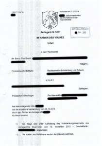 Bild Savoy GmbH Urteil