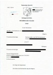 Bild Urteil MFA FilmDistribution c-law GbR