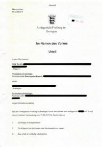 Bild Urteil KSM GmbH RAe BaumgartenBrandt