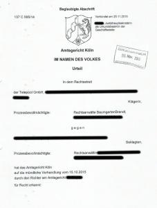 Urteil Telepool GmbH