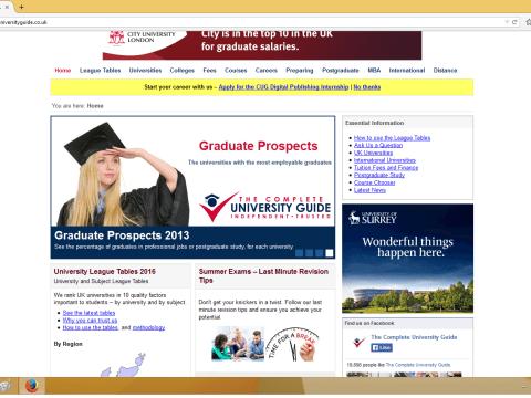 Рейтинги университетов 2016