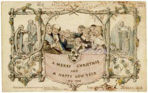 Greetings card, John Callcott Horsley, 1843, England. Victoria and Albert Museum